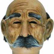 Oude man masker met snor