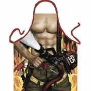 Funny BBQ schorten Brandweerman