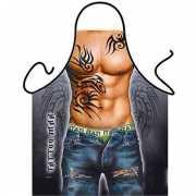 Funny BBQ schorten Tattoo Man