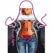 Funny BBQ schorten Lady Tattoo
