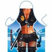 Funny BBQ schorten Politie vrouw
