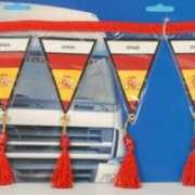 Decoratie mini vlaggenlijn Spanje 60 cm