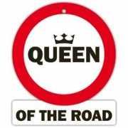 Decoratie bord met zuignappen Queen