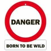 Decoratie bord met zuignappen Danger, Born