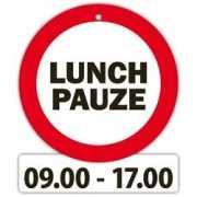 Decoratie bord met zuignappen Lunch pauze