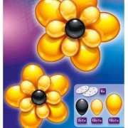 2 leuke bloemen ballonnen geel/zwart