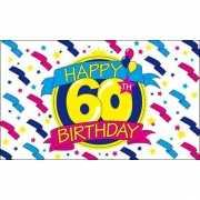 Feestvlag Happy Birthday 60 jaar