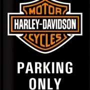 Wanddecoratie bikers parking only