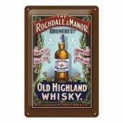 Mooie decoratieve wandplaat Muurdecoratie Whisky 20 x 30 cm
