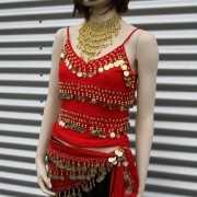 Arabische nachten dames t shirt met muntjes