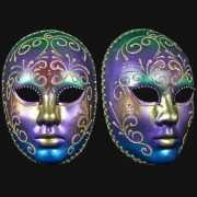 Regenboog masker handgemaakt