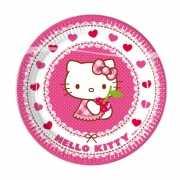 Bordjes kinderfeestje Hello Kitty