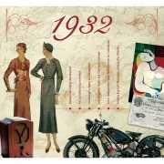 Verjaardagskaart met muziekhits uit 1932