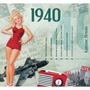 Verjaardagskaart met muziekhits uit 1940