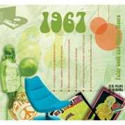 Verjaardagskaart met muziekhits uit 1967