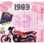 Verjaardagskaart met muziekhits uit 1983