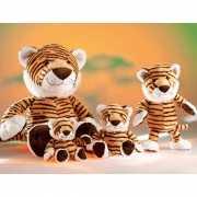 Gestreepte tijger knuffel 18 cm
