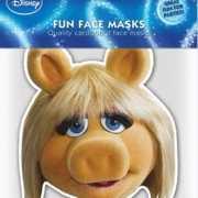 Kartonnen masker Miss Piggy