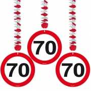 70 jaar versiering stopbord