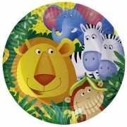 Kinderfeest eet bordjes met dieren