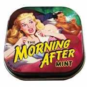 Blikje met snoep morning after
