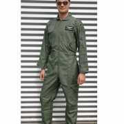 Piloten overallen in armygreen