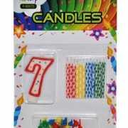Cijfer kaarsen rood nummer 7
