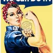 Metalen plaatje we can do it
