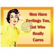 Metalen funplaten Men & Feelings
