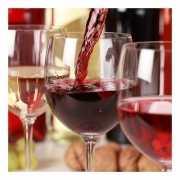 Servetten druiven met rode wijn 33 cm