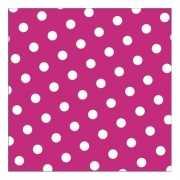 Vrolijke servetten roze met witte stippen