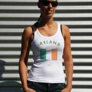 Mouwloos shirt met vlag Ierland print voor dames