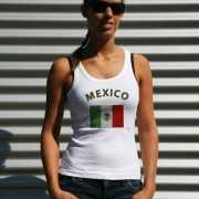Mouwloos shirt met vlag Mexico print voor dames