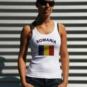 Mouwloos shirt met vlag Roemenië print voor dames
