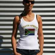 Mouwloos shirt met vlag Zuid Afrika print voor dames