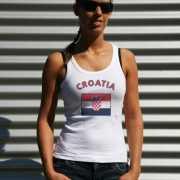 Mouwloos shirt met vlag Kroatië print voor dames