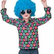 Overhemd met 70s disco print voor kinderen