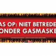 Gasmasker Sticky Devil sticker