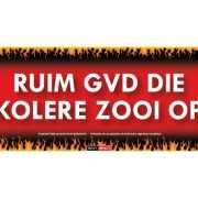 Ruim gvd die kolere zooi op Sticky Devil sticker