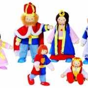 Koningsfamilie poppen 6 stuks