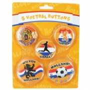 Hup Holland supporters buttons