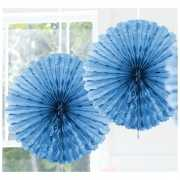 Feestversiering lichtblauwe decoratie waaier 45 cm