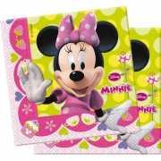 Themafeest Minnie Mouse servetten 20 stuks