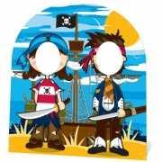 Kindere piraat feestje stand in bord