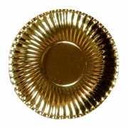 Feestartikelen borden metallic goud 10 stuks
