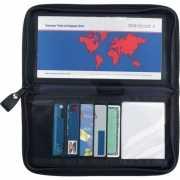 Zwarte paspoorthouder