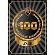 Decoratie poster 100 jaar zwart en goud