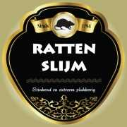 Rattenslijm fles etiketten