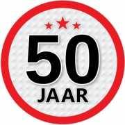 Leeftijd versiering sticker 50 jaar