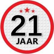 Leeftijd versiering sticker 21 jaar